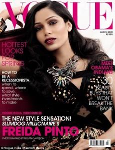 Freida Pinto su Vogue India