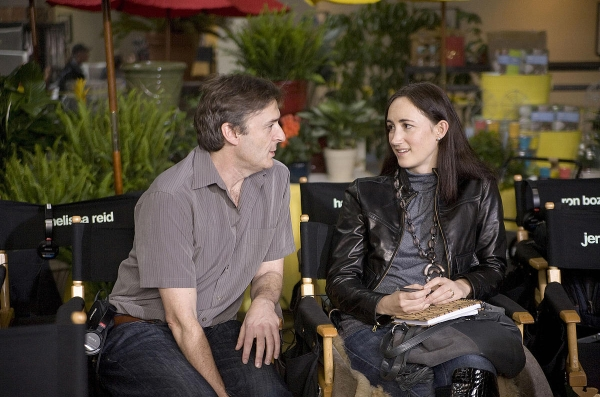 Sophie Kinsella con il regista del film, P.J. Hogan
