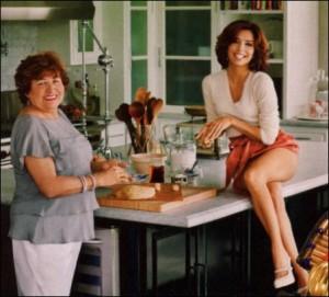 Eva Longoria in posa con la mamma