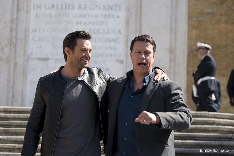 Hugh Jackman con il resgista di Wolverine, Gavin Hood.