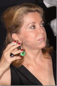 Catherine Deneuve a Taormina