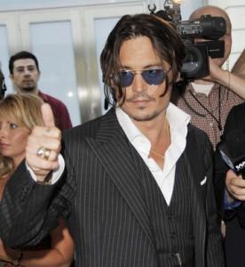 Johnny Depp sul Red carpet di Public Enemies