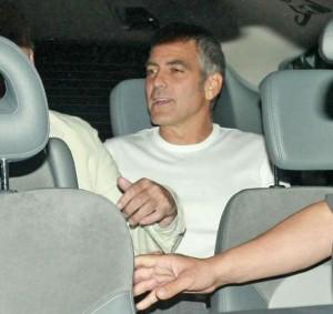Clooney e la Arcuri al Gatto nero