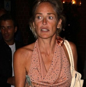 Sharon Stone senza trucco