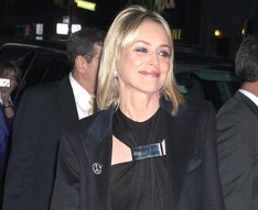 Sharon Stone al Letterman