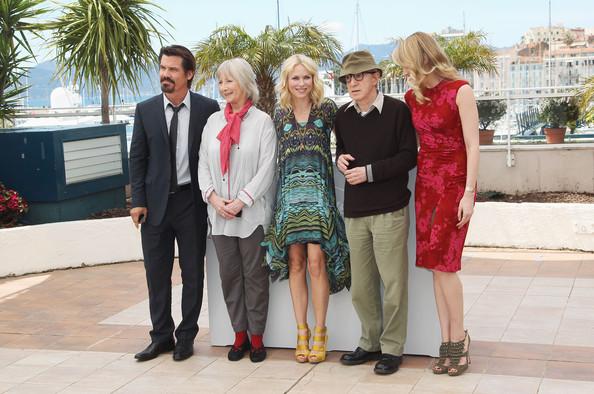 Woody Allen con gli attori Josh Brolin, Gemma Jones, Naomi Watts, e Lucy Punch.
