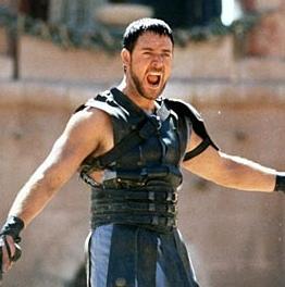 Il gladiatore in versione gonfiabile