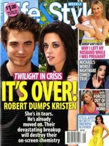 Robert Pattinson-Kristen Stewart: game over