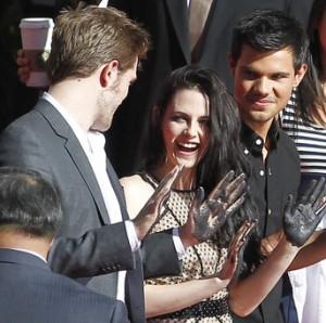 Robert, Kristen e Taylor sulla Walk of Fame