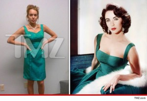 Lindsay Lohan vestita da Elizabeth Taylor