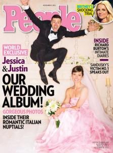 Su People le foto del matrimonio di Justin Timberlake e Jessica Biel