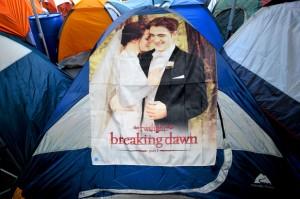Accampati per Twilight: le foto