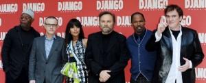 Tarantino e il cast di Django Unchained a Roma