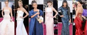 Oscar 2013: tutti gli abiti visti sul red carpet