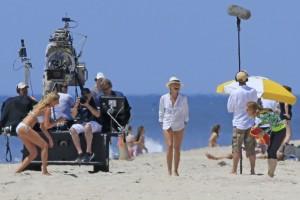 Cameron Diaz e Kate Upton sul set