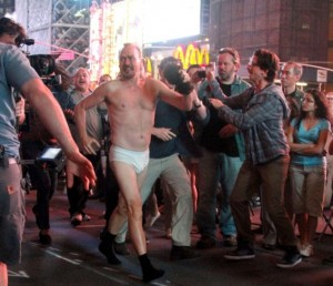 Michael Keaton in mutande a New York