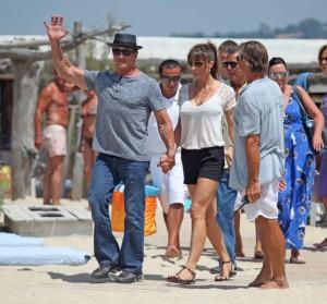 Sly in vacanza con la famiglia a Saint-Tropez