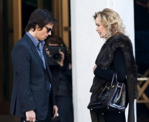 Mark Wahlberg e Jessica Lange sul set di The Gambler