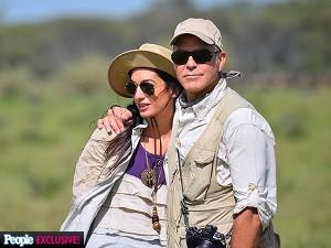 George Clooney e Amal Alamuddin in Tanzania