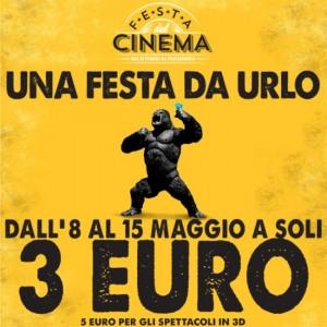 Dall'8 al 15 maggio torna la festa del cinema