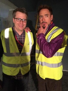 Robert Downey Jr. twitta la prima foto ufficiale dal set di Avengers: Age of Ultron