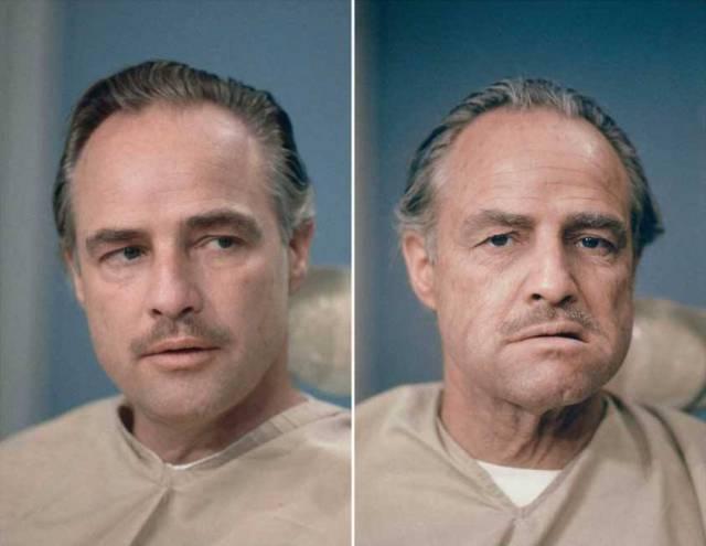 Dick Smith trasforma Brando in Vito Corleone