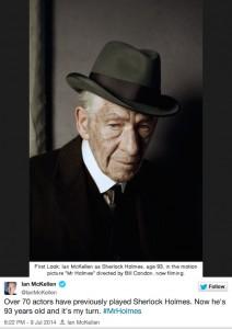 Mr. Holmes: Ian McKellen nella prima immagine che segna il ritorno al cinema dell'investigatore inglese