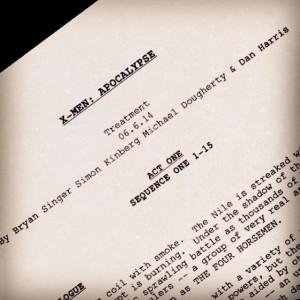 Bryan Singer e la prima pagina dello script di X-Men: Apocalypse
