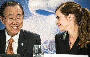 Emma Watson al forum di Davos con i grandi della Terra