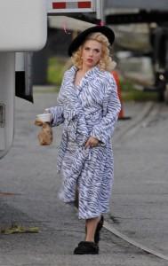 Scarlett Johansson sul set di Hail Caesar! dei fratelli Coen