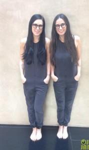 Demi Moore e la figlia Rumer Willis giocano a fare le gemelline