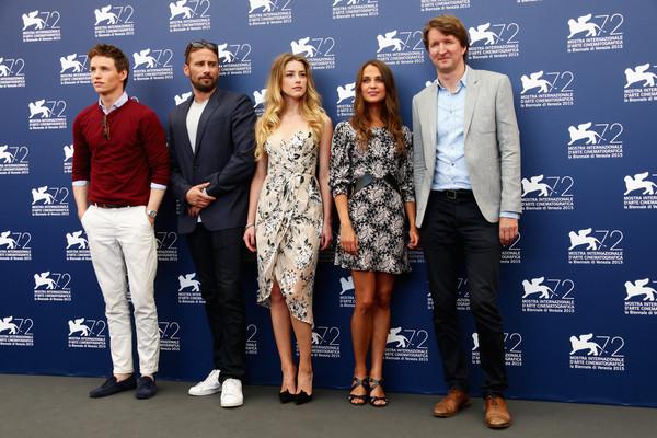 Eddie Redmayne, Matthias Schoenaerts, Amber Heard, Alicia Vikander, Tom Hooper - The Danish Girl