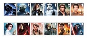 I francobolli di Star Wars