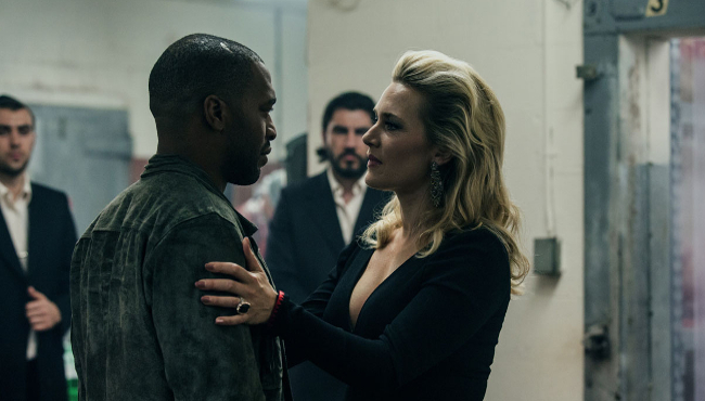 (Left to right) Chiwetel Ejiofor and Kate Winslet in TRIPLE 9.