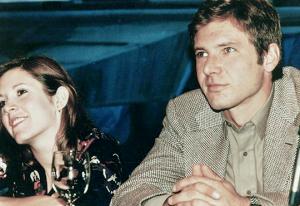I versi emessi da Harrison Ford quando Carrie Fisher gli ricorda della loro liason