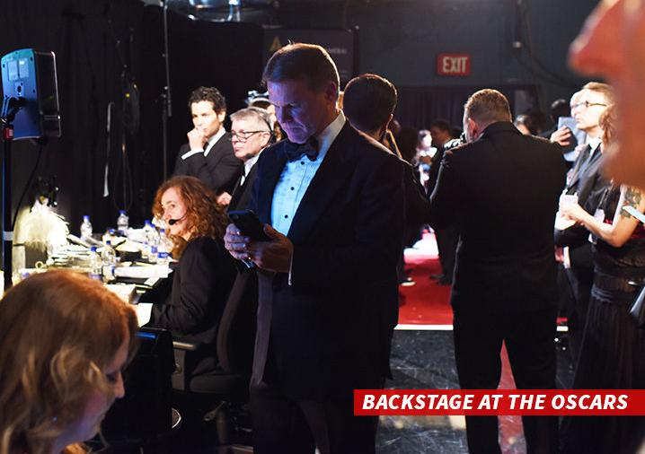 Brian Cullinan nel backstage degli Oscar