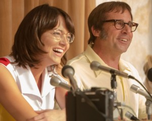 Emma Stone e Steve Carell nel primo trailer di Battle of the Sexes