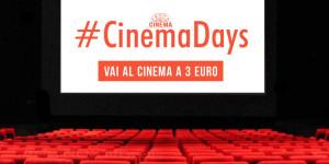 Cinemadays: dal 1° al 4 aprile si va al cinema con 3 euro