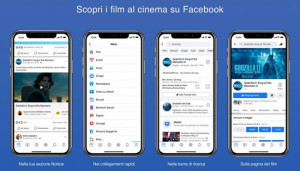 Facebook film sbarca in Italia